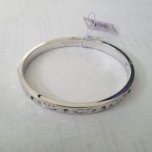 Coach F59803 Kissing C Hinged Bangle Bracelet
